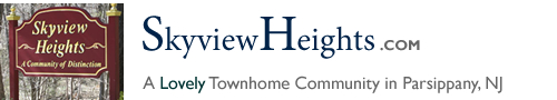 Skyview Heights in Parsippany NJ Morris County Parsippany New Jersey MLS Search Real Estate Listings Homes For Sale Townhomes Townhouse Condos   Sky View Heights